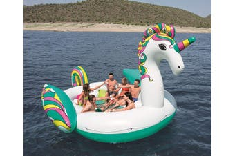 Bestway 43228 Giant Unicorn pool beach float Multicolor Floating island 5.9x4.04m