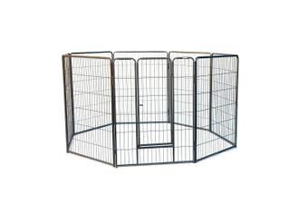 8 Panels Galvanised Pen Run for Dog Chicken Chook Rabbit Cat 110cm Height