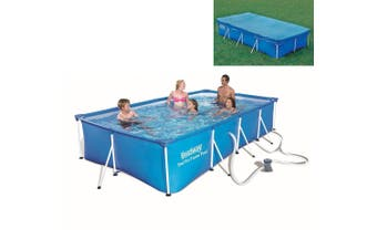 Bestway Above Ground Frame Swimming Pool 4x2.11m with Pool Cover