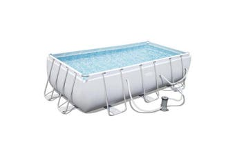 Bestway 4.04m x 2.01m x 1m Steel Frame Swimming Pool with 530gal Cartridge Filter Pump - 56426