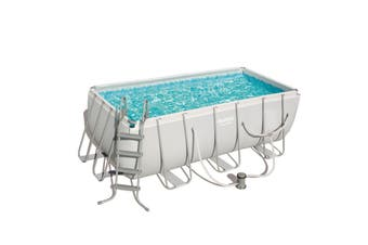 Bestway 56458 Rectangular Steel Frame Pro Swimming Pool 4.2m