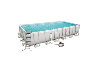 24FT Bestway Frame Above Ground Swimming Pool 7.3m with Sand Filter