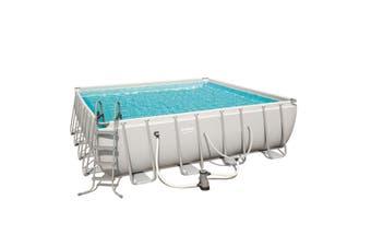 Bestway 56628 16ft Square Power Steel Swimming Pool 4.88x4.88x1.22m