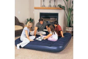 King Size Inflatable Air bed Mattress w/ pillow & Foot Pump