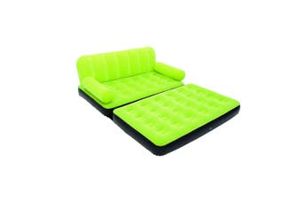 Bestway Inflatable Multi-Max Double Air Bed Mattress Couch Sofa with AC Pump Green