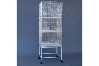 Breeding Bird Cages on Stand for Canary Parakeet Budgie Cockatiel
