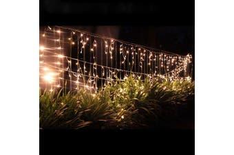 500 LED Icicle Christmas Rope Light Warm White