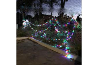 75m 700 LED Christmas Fairy Light Clear String Multi-Color RGBY