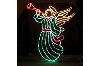 LED Animated Christmas Angel Sounding Trumpet Motif Rope Light