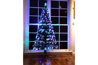 180cm Height Optic Fibre Snowy Christmas Tree with LED Light