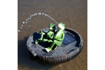 Solar Water Fountain Floating Frog Spitter