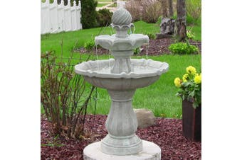 Solar Powered 2-Tier Bird Bath Water Fountain