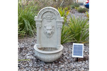 Solar Decorative Lion Wall Water Fountain Feature
