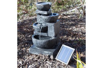 4 Tiers Casarding Solar Water Fountain
