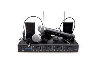 Four Channel VHF Wireless Microphone System