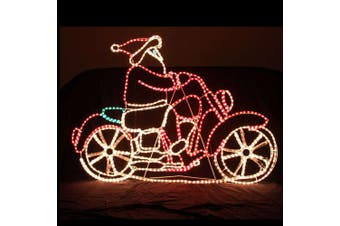 LED Santa on Harley Motocycle Motif Rope Light Christmas