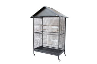 Large Parrot Cockatiel Parakeets Canary Finch Bird Cage with Roof