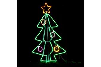Neon Light 3D Christmas Tree