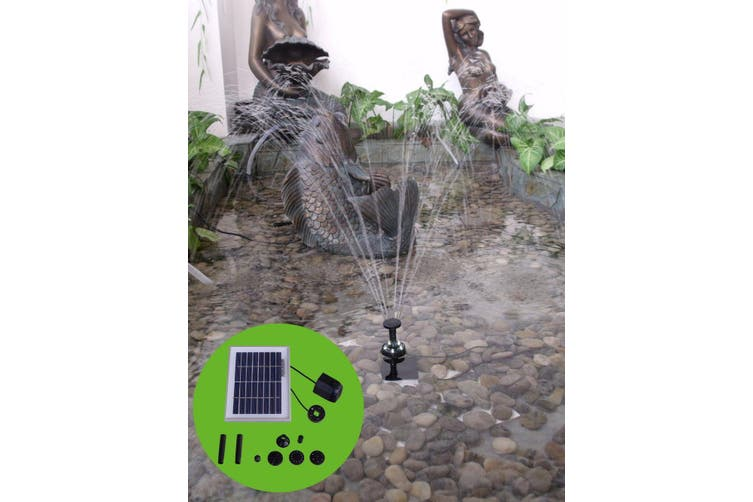 2W 200LPH Solar Pump with Battery Backup Panel for Small Pond Fountain Feature