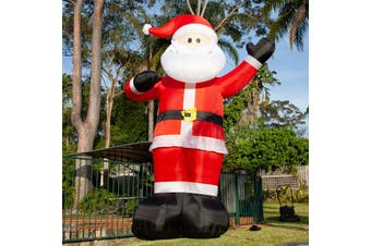 430cm Height Inflatable Santa Claus with Light for Christmas Decoration