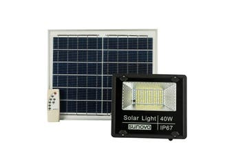 Warm White 40W Solar Flood Light with Remote Outdoor Motion Sensor