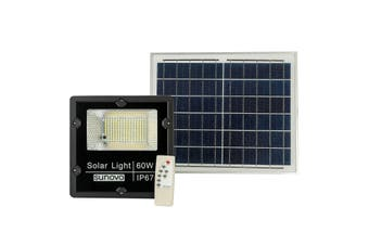 Solar Flood Light Outdoor with Remote Control 60W Cold White