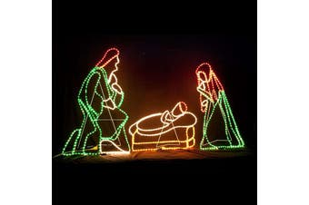 LED Nativity and Cribs Christmas Motif Rope Light 225cm