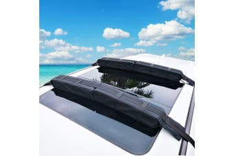 Pair of Universal Soft Roof Rack Kayak Surfboard Universal for Car SUV