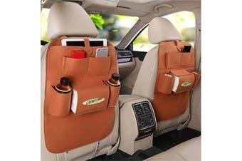 2x Felt Car Back Seat Storage organiser iPad iPhone bottle Holder Multi Pocket Organizer