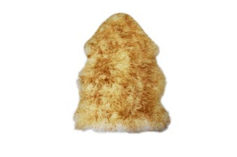 100% Genuine Sheepskin Lambskin Rug Wool Extra Large  Yellow Tip