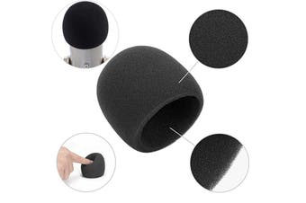 Pop Filter Windscreen Microphone Sponge Foam Cover For Blue Yeti Pro Condenser Mic Black