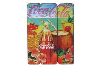 Coca-Cola Collection Tropical Wood Wall Plaque