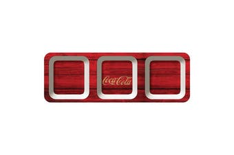 Coca-Cola Melamine Wood Style Red Snack Tray