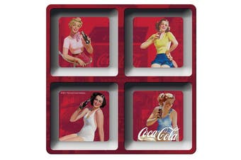 Coca-Cola Melamine Square Pin Ups Red Snack Tray