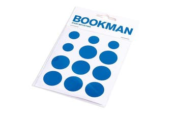 Bookman Blue Sticky Bicycle Frame Reflectors