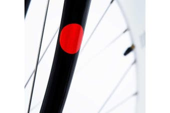Bookman Red Sticky Bicycle Frame Reflectors