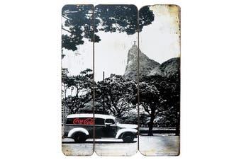 Coca-Cola Landscape Rio Wood Wall Plaque
