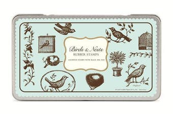 Cavallini Birds & Nests Rubber Stamps