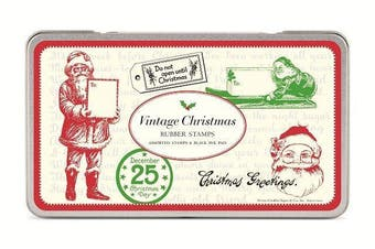 Cavallini Christmas Vintage Rubber Stamps