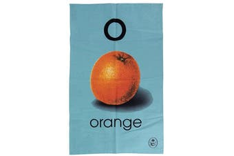 Ladybird Vintage Collection Alphabet ABC Tea Towel [O-Orange]