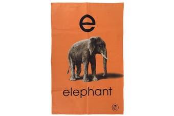 Ladybird Vintage Collection Alphabet ABC Tea Towel [E - Elephant]