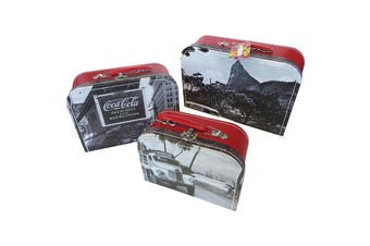 Coca-Cola Vintage Landscape Rio Nesting Storage Cases Set of 3