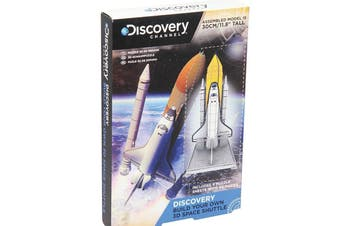 Paladone Discovery Channel Build Your Own 3D Space Shuttle Puzzle