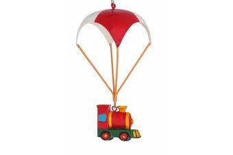 Christmas Parachute Toy Train 12cm Hanging Decoration
