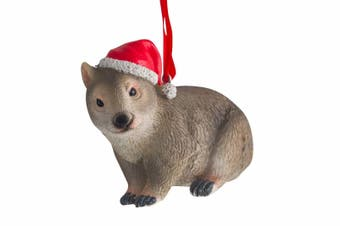 Australiana Wombat with Christmas Hat 7cm