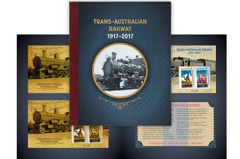 2017 Trans-Australian Railway Gold Minisheet Collection Limited to 200