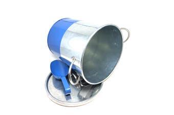 Davis & Waddell Industrial Luxe Blue Galvanised Steel Ice Bucket with Scoop