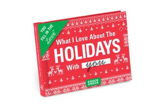 Knock Knock What I Love About Spending the Holidays with You - Fill in the Love