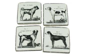 DBWH Formal Dog (Set of 4) Drink Coasters 10x10cm