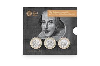 2016 UK £2 The Shakespeare Three-Coin BU Set